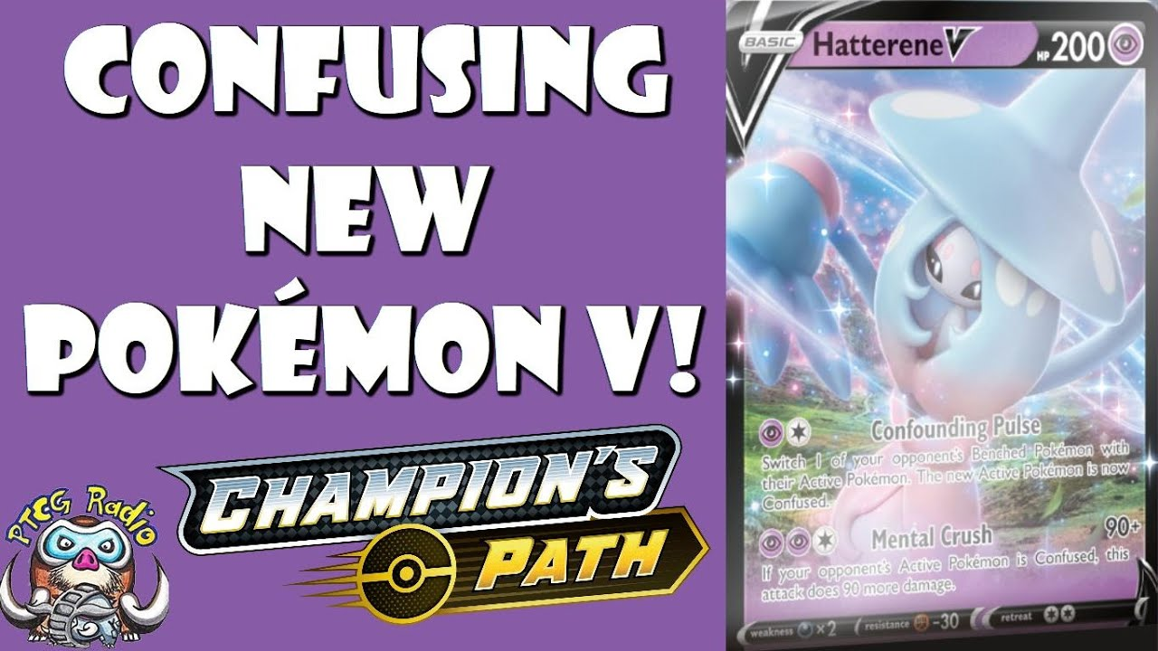 Pokemon TCG Champion/'s Path Hatterene V Collection Box