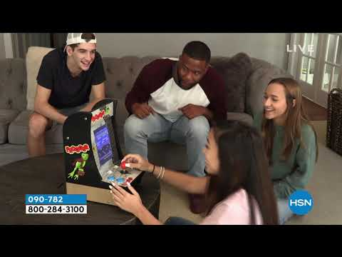 Arcade1Up 2in1 Countercade with PacMan and Galaga Games from HSNtv
