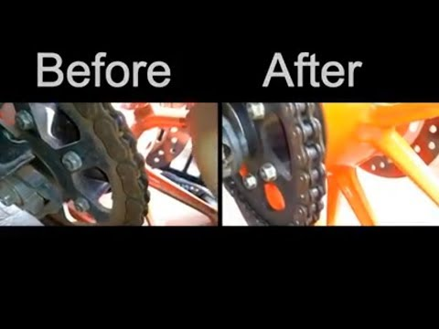ktm  chain cleaning easy way  ,with low cost