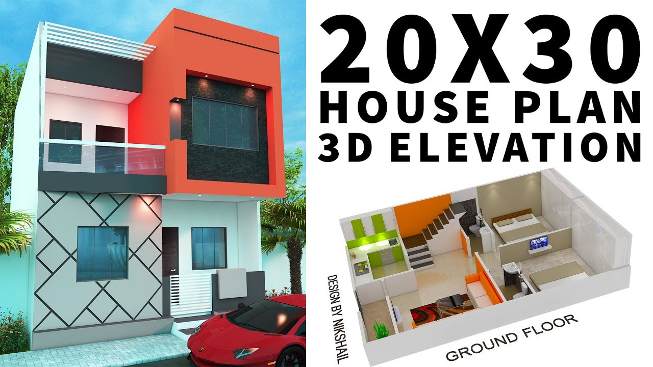 20x30 House Plan With 3d Elevation By Nikshail Youtubedownloadpro