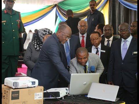 Rais Magufuli Azindua Mfumo wa Ukusanyaji Kodi Kielektroniki (E-RCS)