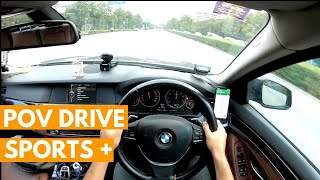 Driving the BMW 523i F10 in Sports and Sports+