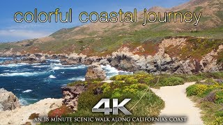 "4K ""Colorful Coastal Journey"" Drone Flight & Hike by Nature Relaxation 