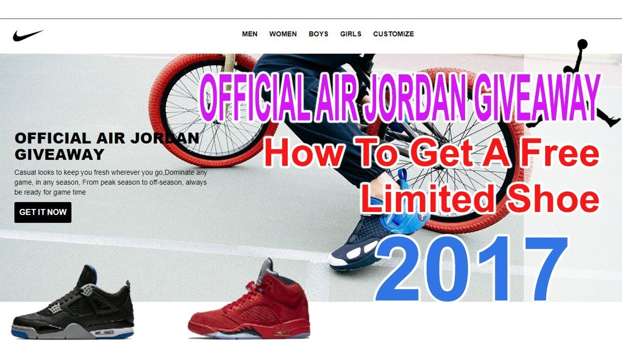 d6d46162fa4a OFFICIAL AIR JORDAN GIVEAWAY  How To Get A Free Limited Shoe - YouTube
