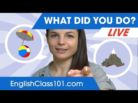What did you do? | Past Tense - English Conversation 🔴