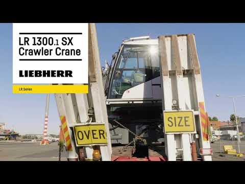 Liebherr  LR 1300.1 SX crawler crane: manufactured in Nenzing, assembled in Sydney Harbour