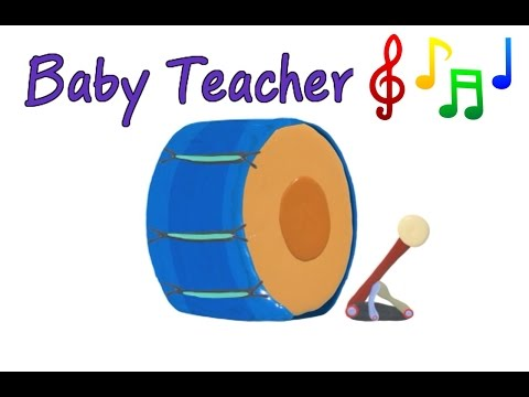 Musical Instruments Sounds for Kids – DRUMS | MusicMakers Episode 6 - From Baby Teacher