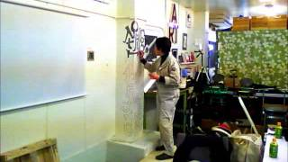 清水裕子さん制作「妄想の柱」