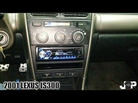 2001 lexus is300 radio removal