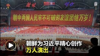 朝鲜献上万人大汇演   欢迎习近平访朝