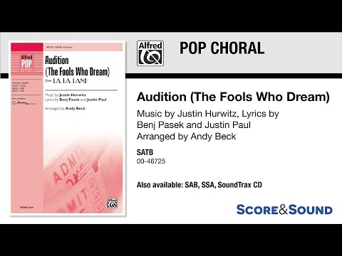 Audition (The Fools Who Dream), arr. Andy Beck – Score & Sound
