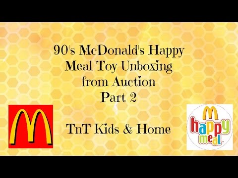 90s McDonalds Happy Meal Toy Unboxing from an Auction Part 2