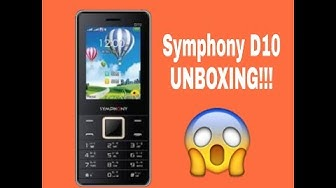 Watch Symphony D10 (Red) UNBOXING ll Tutorial Video-2018