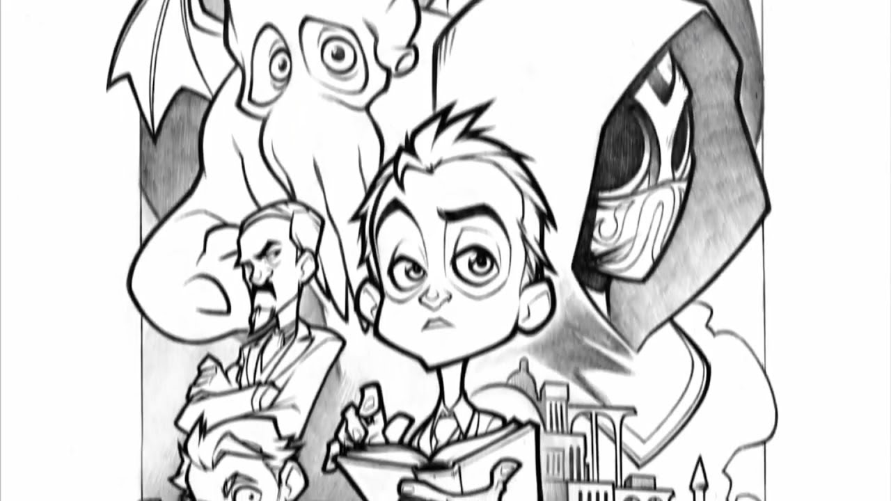 Download Howard Lovecraft and the Undersea Kingdom - Lineart Timelapse
