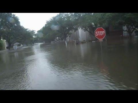 Raw: Houston Suburbs Overwhelmed By Harvey Rains