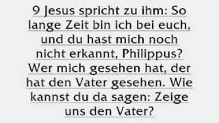 Wo sagt JESUS er ist GOTT ?