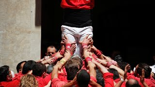 video: Watch: Catalan 'human towers' return after pandemic