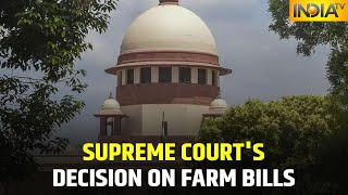 Supreme Court's Decision On Farm Laws Out, Court To Stay 3 Bills