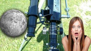 видео: ЛУНА  в СУПЕР телескоп  за 75$  Увеличение 675 раз!