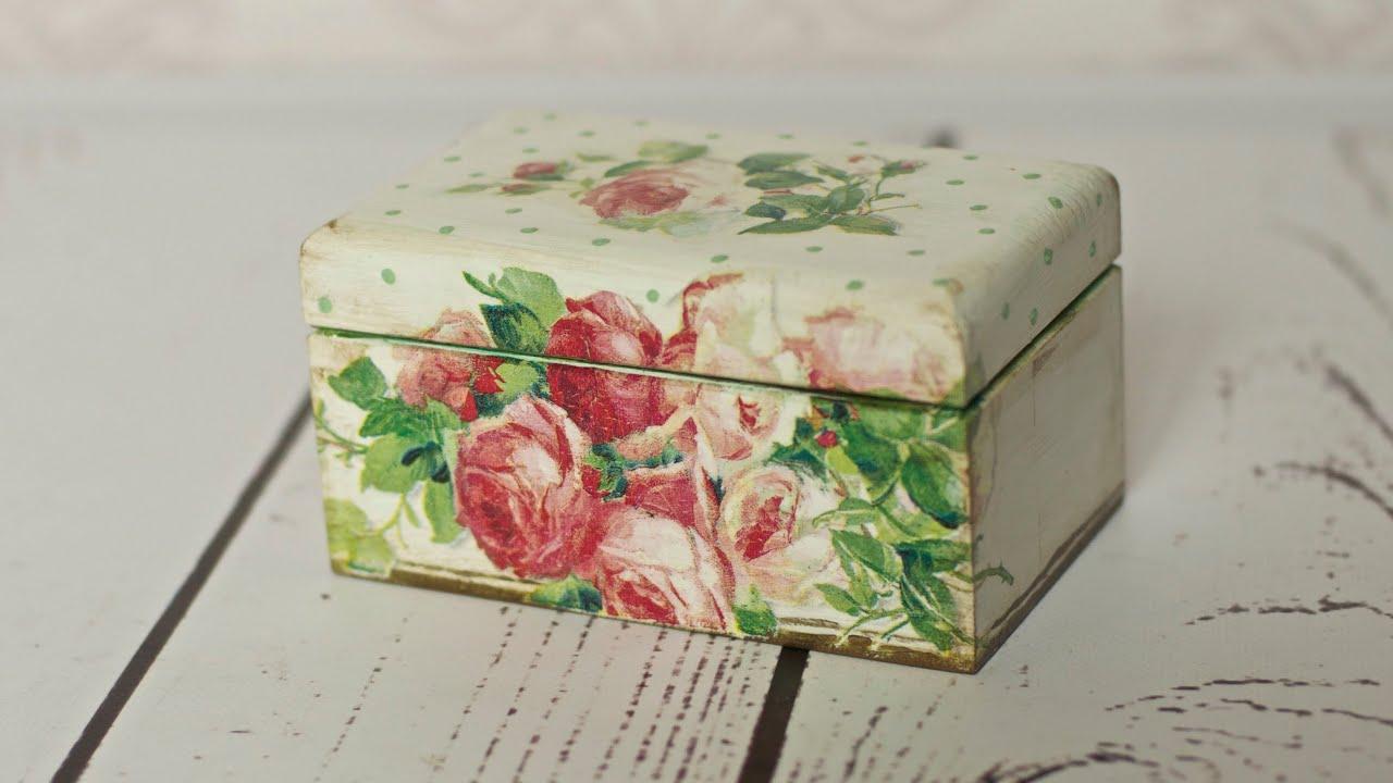 Decoupage tutorial - tea box - YouTube
