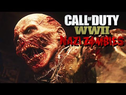 Call of Duty WW2 Nazi Zombies Mode Gameplay German #14 - Adolfinis