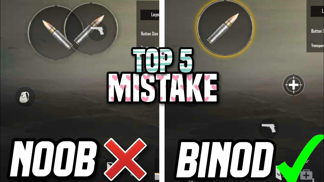 Top 5 Mistakes Every player do in Pubg Mobile Lite || Pro player Tips and Tricks in Pubg Mobile Lite