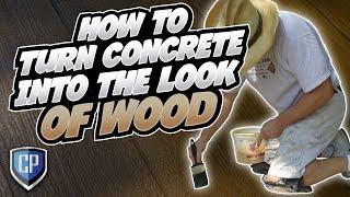 Turning Concrete Into Wood - Fort Wayne, Indiana
