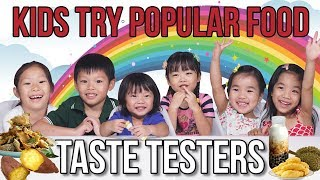 Kids Trying Durian and Other Trendy Food in Singapore   Taste Testers   EP 111