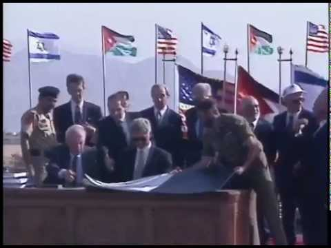 poco egipcio Superior  President Clinton at Signing of the Israel-Jordan Peace Treaty ...