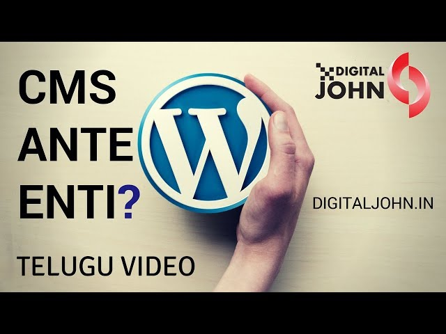 What is Content Management System in Telugu? || Digital John