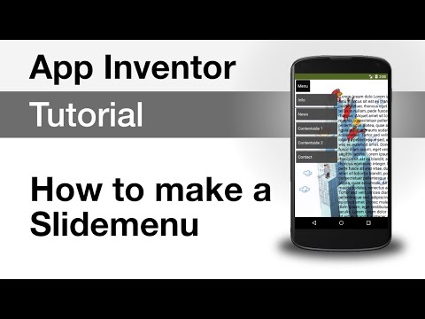 App Inventor 2 Tutorials - Android Slide Menu