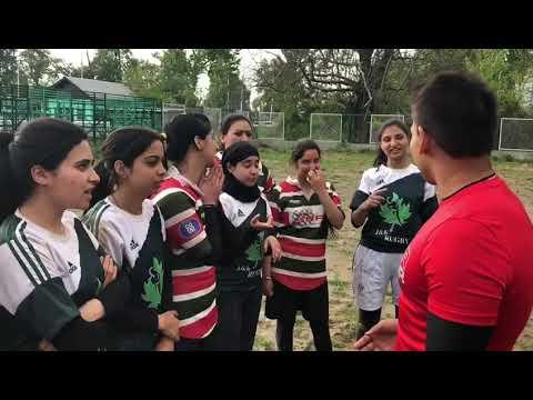 Namal Rajapaksa learn Urdu from J&K Rugby Women's Team