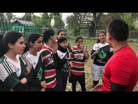 Namal Rajapaksa learn Kashmir language from J&K Rugby Women's Team