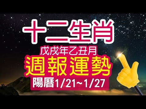 林海陽 2019十二生肖運勢1/21-1/27週報 20190117