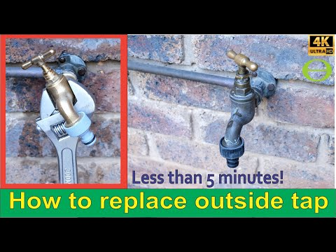 How to replace an outside tap in under 5 minutes