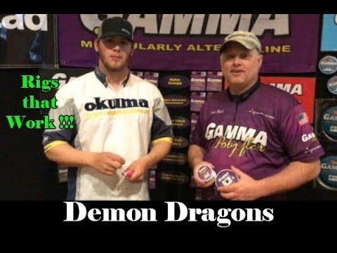 Demon Dragons & Gamma Fishing Line: How to rig Demon Dragons for Bank fishing or Anchor fishing
