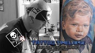 Tattoo Time Lapse - Randy Engelhard - Tattoos Color Portrait of Child