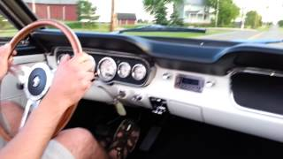 65 Mustang going through the gears