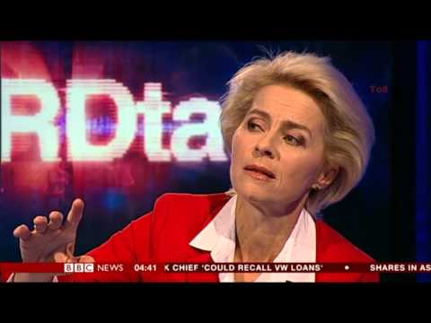 Ursula von der Leyen:-: BBC - HARDtalk - 12 Oct. 2015 - Is Europe serious about defense?