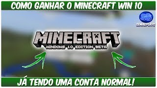 ✔Como Reivindicar o Seu Minecraft Windows 10!  {2018}