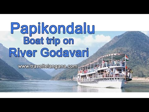 Papikondalu Badrachalam on river Godavari boat trip in Telangana