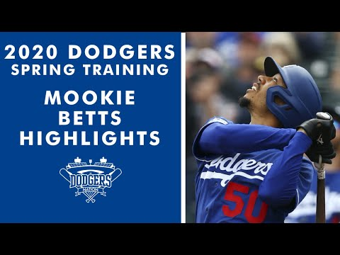 Mookie Betts Highlights from 2020 Dodgers Spring Training