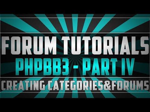 Forum Tutorials - phpBB3: Creating Categories & Forums + Permissions
