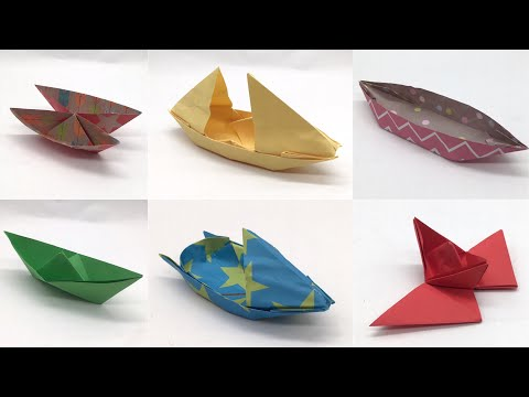 6 Floating Origami Paper  Boats - DIY Tutorial by Paper Folds - 967