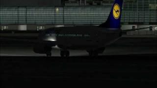 FS2004 EDDF Frankfurt Airport Night Traffic (Take offs, landings)