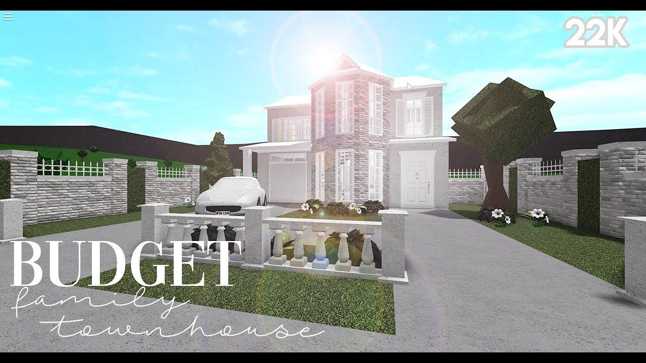 Bloxburg Budget Family Townhouse 22k No Advance Placement