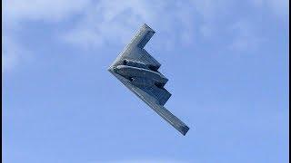 B2 Spirit Stealth Bomber Cruises South Beach During The 2018 MB Air Show