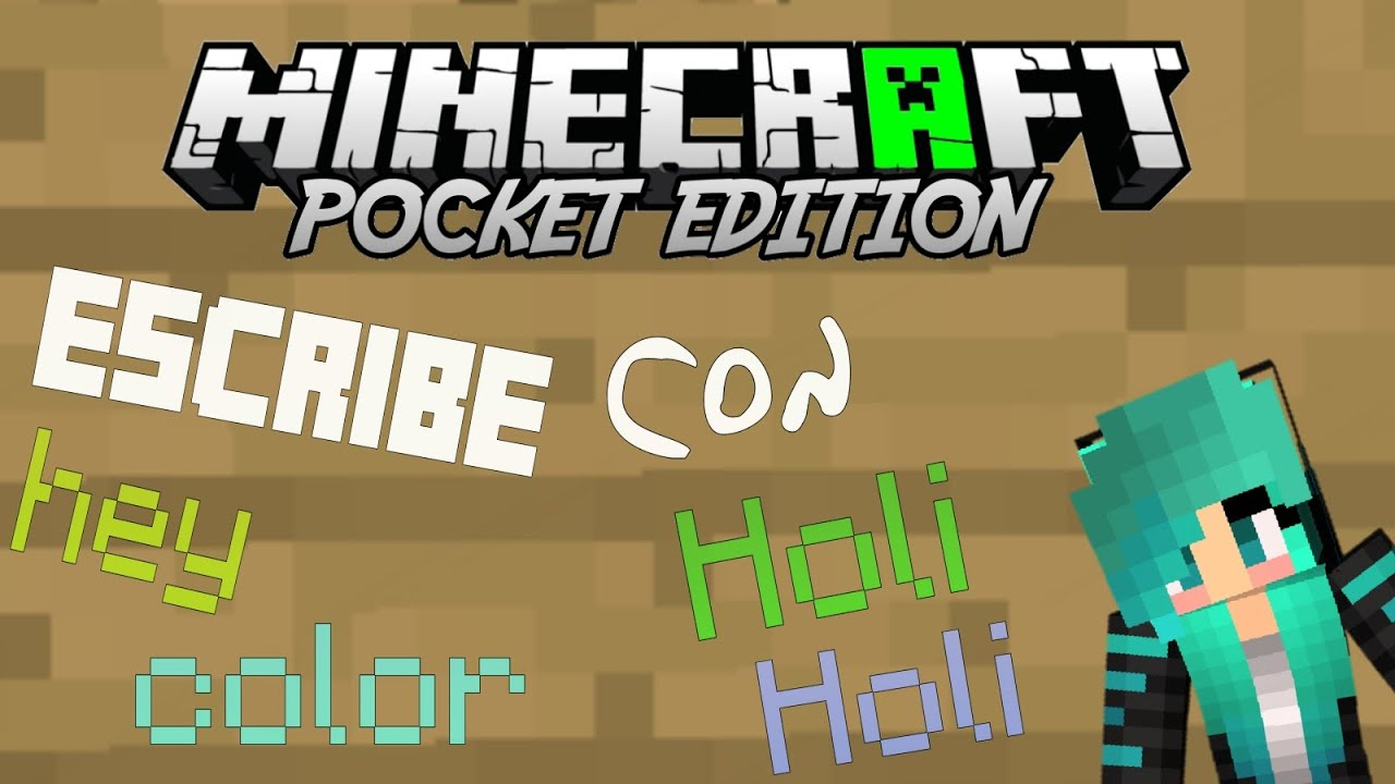 Como escribir con color-Minecraft PE 0.16 - YouTube