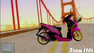 #2 Main Gta Indonesia Review Mod |Honda BeAT FI Pinkydoy REBORN|