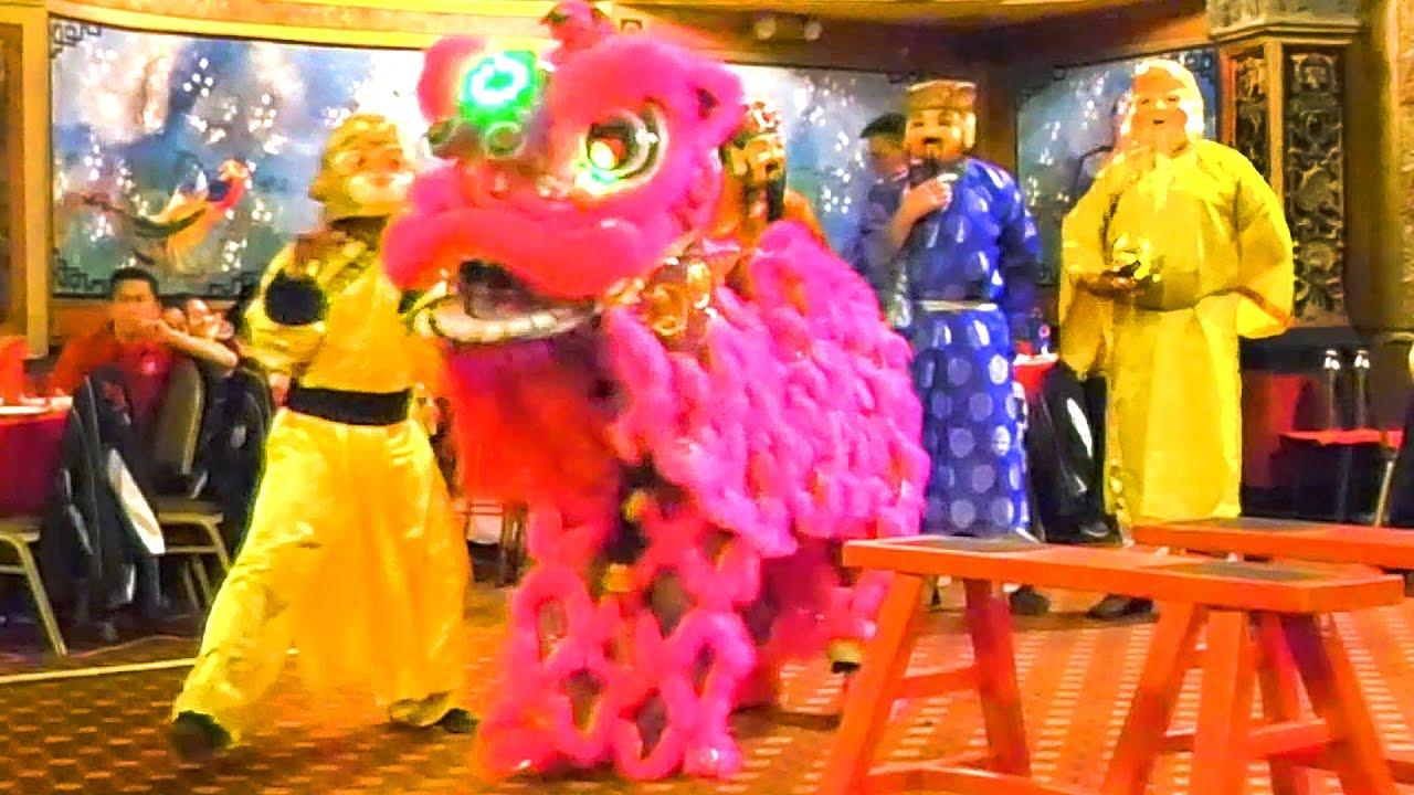 2016 monkey and lion dance empire garden third performance boston chinatown competition event - Empire Garden